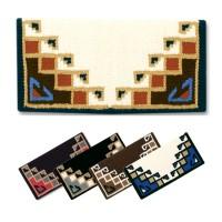 """1447-1 Mayatex Blanket Pueblo 38""""x34"""" Haselnuss-/Chocoladenbraun/Beige/Creme/Schwarz"""
