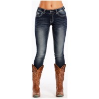Rock & Roll Cowgirl Skinny Jeans Front