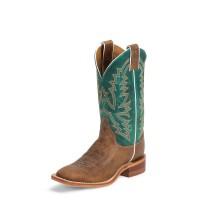 Justin Boots BRL317 Damen Westernstiefel braun/türkis