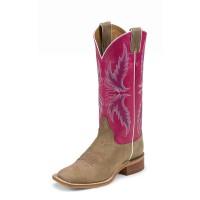 Justin Boots Damen Westernstiefel hellbraun/pink BRL311