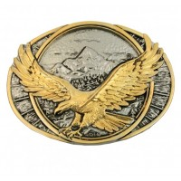Soaring Eagle Two Tone Attitude Belt Buckle
