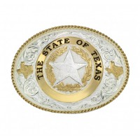 State of Texas Star Seal Western Belt Buckle 61374