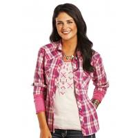 Westernbluse pink 8285