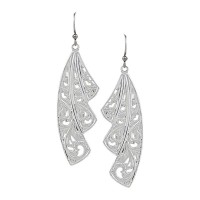 Western Lace Fan Leaf Earrings
