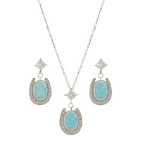 River Lights Pond of Luck in the Evening Sky Jewelry Set
