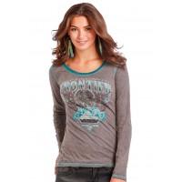 Panhandle Damen Langarm T-Shirt Frontier L8T9458