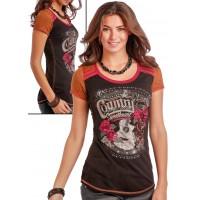 Panhandle Damen Kurzarm T-Shirt Country Sweetheart L9T9442