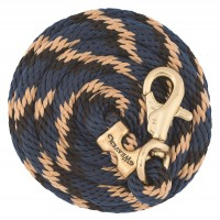 Bull Snap Poly Lead Rope Ribbon Navy / Black / Tan 35-2111-B10