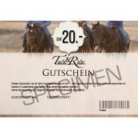 Tack'n'Ride Gift Voucher 20 CHF