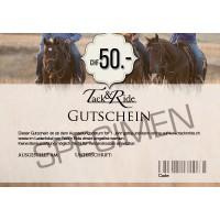 Tack'n'Ride Gift Voucher 50 CHF