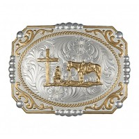 Two-tone Buckle with Cowboy 25815-731