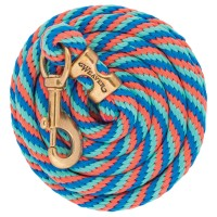 Poly Lead Rope Twist Thin french blue/coral/mint W18