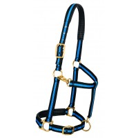 Weaver 35-7735-BL Blue / Blank Padded Adjustable Chin and Throat Snap Halter