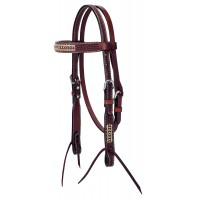Turquoise Cross Pony Zaum mit Rohhaut 45-0147