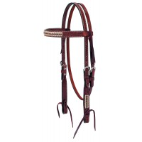 Turquoise Cross Western Headstall with Rawhide 45-0138