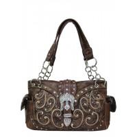 Handbag Brown Shimmering 500253BR