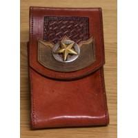 Leder Handyhalter Texas Star