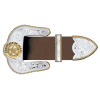 3 Piece Belt Buckle Set - Texas Star