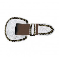 3 Piece Belt Buckle Set - Barbed Wire