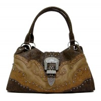 Handbag Brown Floral