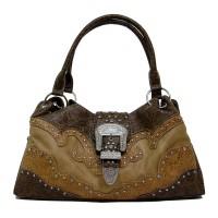 Handtasche Braun Floral