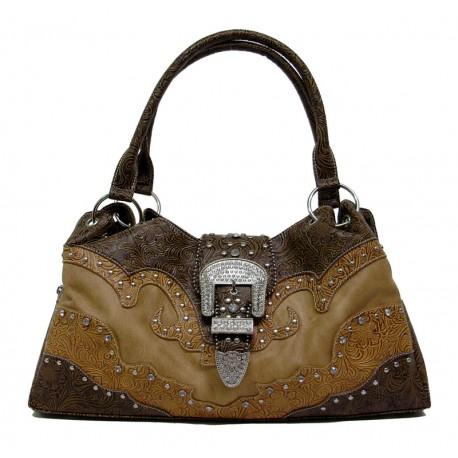 2df9cea5d0514 Handtasche Braun Floral - Tack n Ride