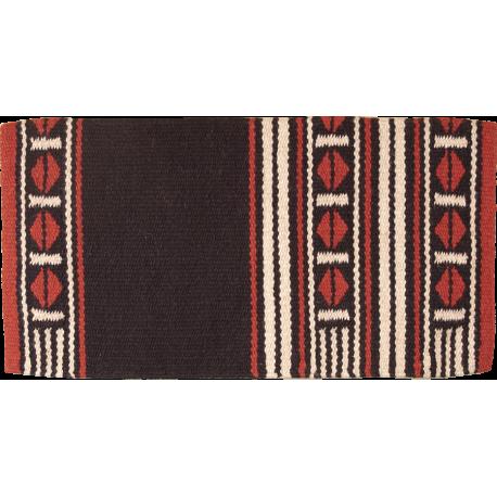 Maverick Wool Blanket rost schwarz
