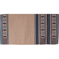Maverick Wool Blanket rust black