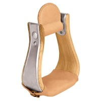 Weaver Leather Wooden Stirrups with Leather Treads, Bell 30-2976-3