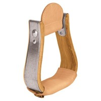 Weaver Leather Wooden Stirrups with Leather Treads, Visalia 30-2955-3