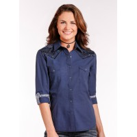 Western Shirt Navy 4248