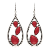 Montana Silversmiths Red Sparks Teardrop Earrings ER2091RR47