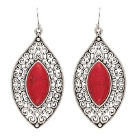 Montana Silversmiths Red Marquis Earrings ER2121RR47