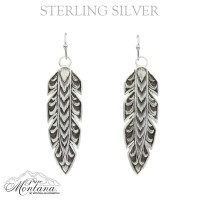 Moonlight Shadows Hawk Feather Earrings