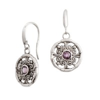 Laurels Amethyst Drop Earrings M01ER1035