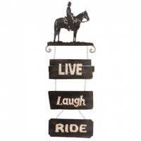 Tough-1 Cowboy Sign Live/Laugh/Ride 87-1912