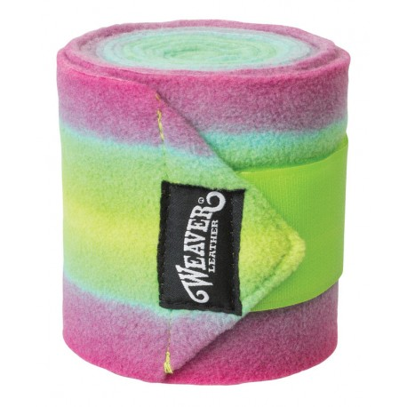 Weaver Leather Polo Bandagen Ombre lime / pink
