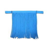 Fliegenfransen Salon Pony azurblau