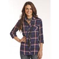 Western Shirt Herringbone 4303