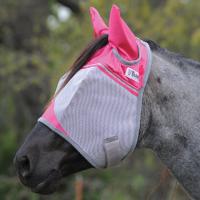 Crusader Fliegenmaske Pink mit Ohren