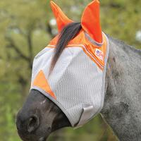 Crusader Fliegenmaske Orange mit Ohren