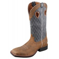 Twisted X Ruff Stock Boot MRS0027 western boots blue/brown