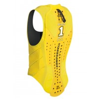 Back Protector Ballistic Vest Junior yellow