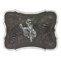 MONTANA SILVERSMITHS Gunmetal Scalloped Point with Ranch Rodeo Buckle 30910SB-593
