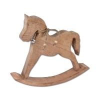 Holz Deko Schaukelpferd