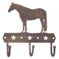 Garderobenhaken 3-fach Pferd