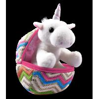 Unicorn Emily in fabric egg