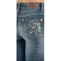 Mid Rise Jeans Feather 8714