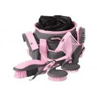 Putztasche ink. Putz-Kit grau rosa