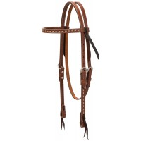 Rawhide Buckstitch Browband Headstall